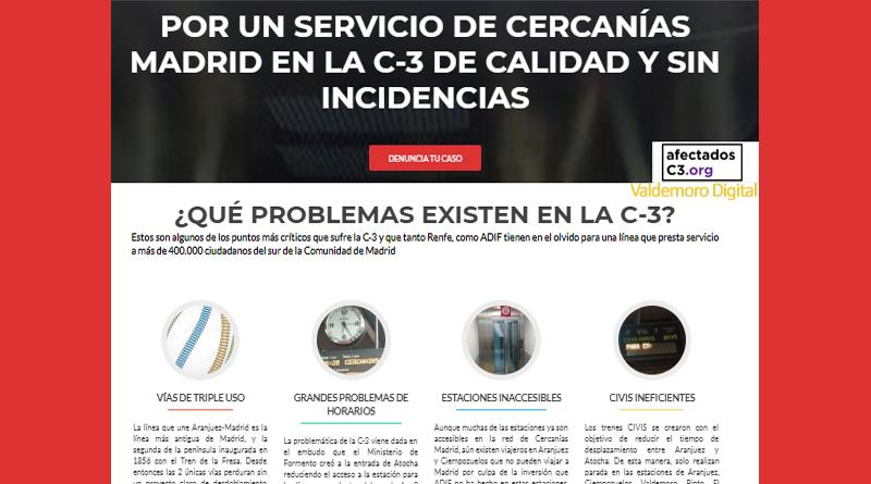 Web Afectados línea C3 Cercanías Renfe Pinto