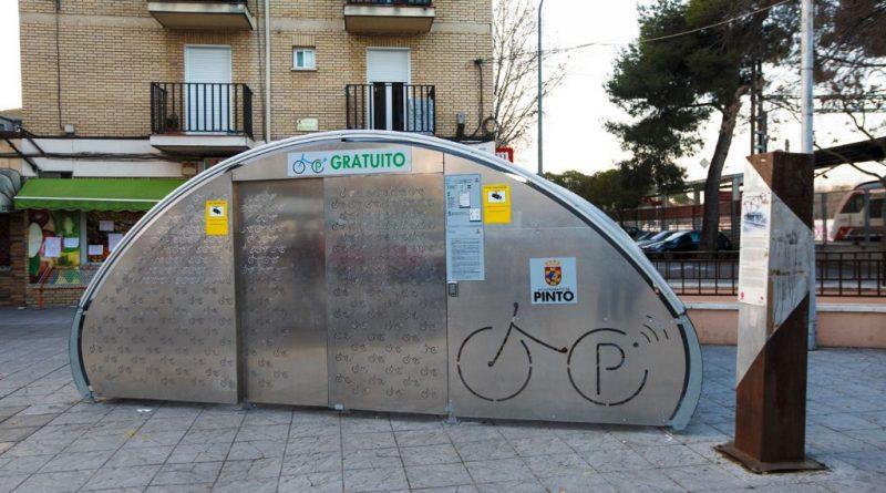 Aparcamiento bicicletas en Pinto