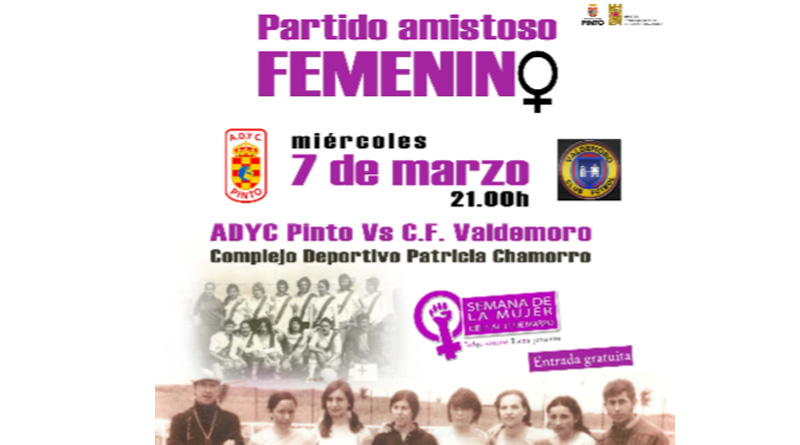 Fútbol femenino entre los equipos de Pinto y Valdemoro