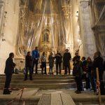 El Ayuntamiento y la Comunidad visitan las obras de la Iglesia de Santo Domingo de Silos