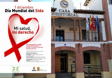Lazos rojos con motivo del día mundial contra el SIDA