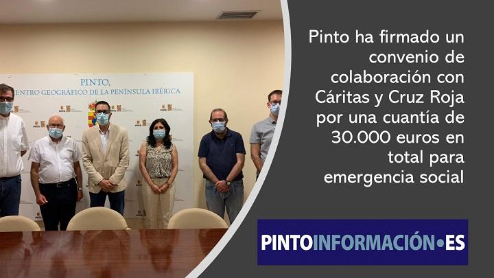 Convenio de colaboración con Cáritas y Cruz Roja