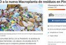 Firmas contra macro-planta de residuos