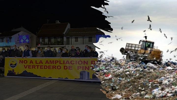 Manifestación contra Macroplanta de residuos