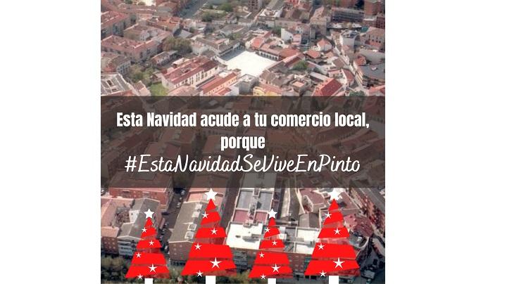 #EstaNavidadSeViveEnPinto el hashtag del comercio de Pinto