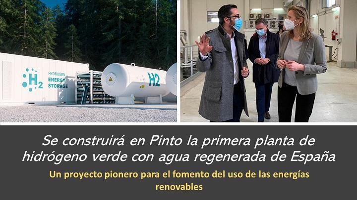 Se construirá en Pinto una planta de hidrógeno