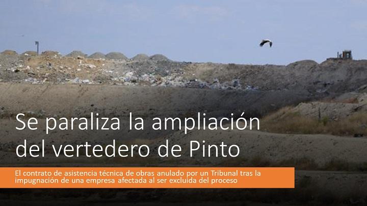 Paralizada la ampliación del vertedero de Pinto