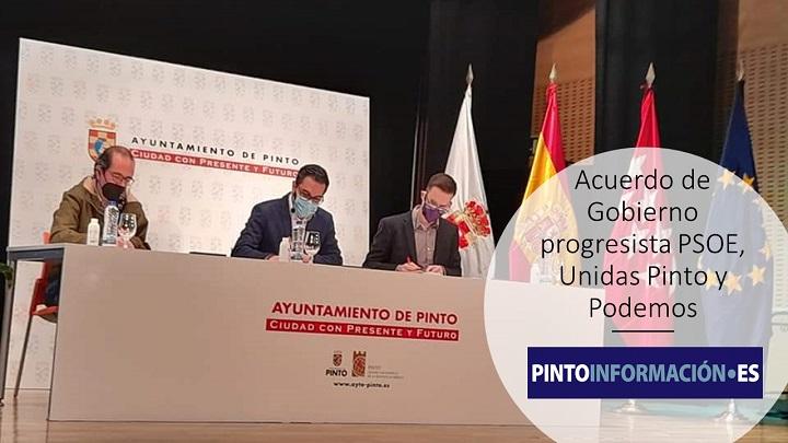 Acuerdo de Gobierno progresista en Pinto